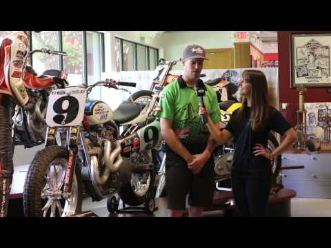 Dan Bromley talks about his transition from amateur to pro flat track racer