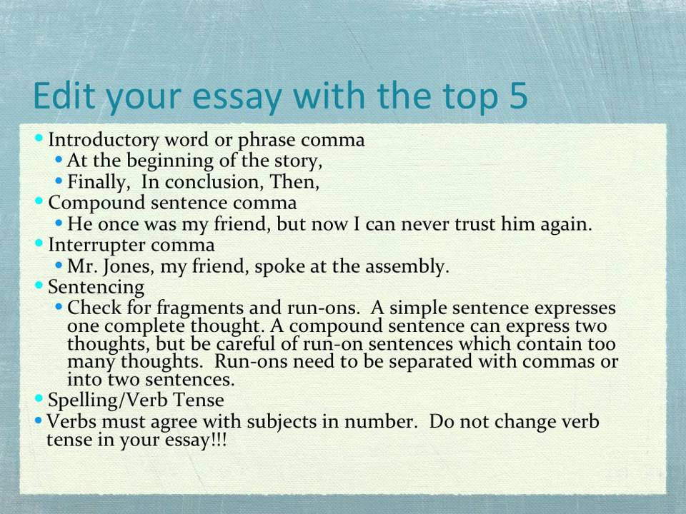 Tutorial one essay