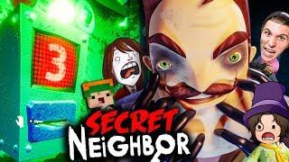 Er öffnet die LEVEL 3 NACHBAR TÜR! ✪ Secret Neighbor (Hello Neighbor MULTIPLAYER)