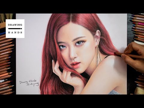 Speed Drawing BLACKPINK- Rose [Drawing Hands]