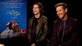 CALL ME BY YOUR NAME INTERVIEW: Andrew Freund chats w/ Timothee Chalamet and Armie Hammer
