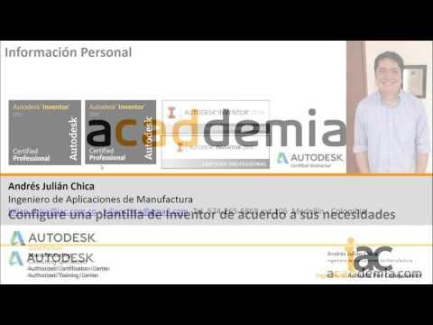 Personalice las plantillas de Autodesk Inventor al nivel de sus necesidades