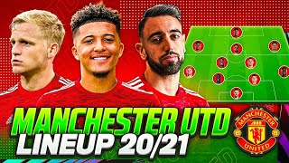 MANCHESTER UNITED LINE UP 2020/21 with SANCHO😈🔥 | MAN UTD CONFIRMED TRANSFERS 2020 & & RUMOURS✅💰