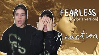 FEARLESS (TAYLOR'S VERSION) REACTION RERECORDING NEW ALBUM (REACTING TO THE NEW FEARLESS ALBUM)