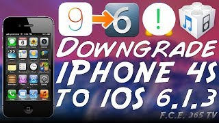 Downgrade iPhone 4S From iOS 9.3.4 To iOS 6.1.3 With Beehind