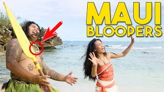 You're Welcome Bloopers! Maui and Moana Behind the Scenes in real life with Working with Lemons
