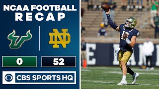 South Florida vs #7 Notre Dame: NCAA Football Recap | 09-19-2020 | CBS Sports HQ