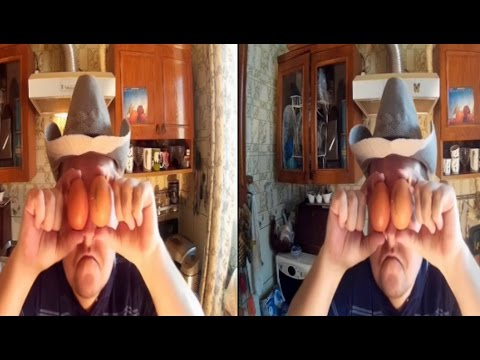 3D VIDEO . Breakfast in 3D