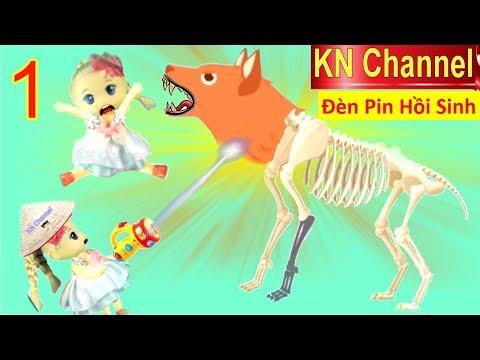 BÚP BÊ KN Channel & ĐÈN PIN HỒI SINH KHỦNG LONG Tập 1 HỒI SINH NHẦM CHÓ SÓI