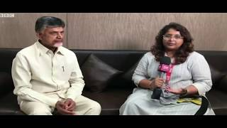 Interview with CM Chandrababu- Cyclone Titli..