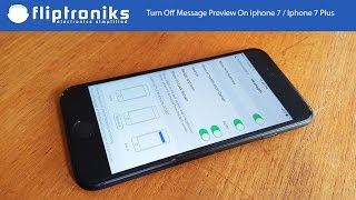 How To Turn Off Message Preview On Iphone 7 / Iphone 7 Plus - Fliptroniks.com