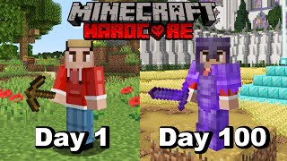 I Survived 100 Days In HARDCORE Minecraft And Here's What Happened...