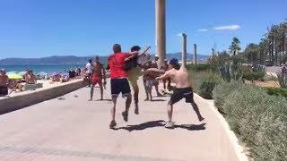 Dos grupos de alemanes en una brutal pelea en Mallorca