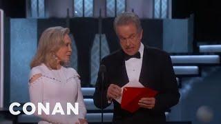 Don't Blame Warren Beatty For That Oscars Snafu  - CONAN on TBS