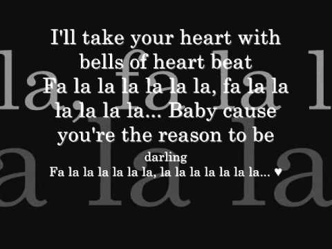 Justin Bieber Feat. Boyz II Men - Fa La La (Lyrics on screen)