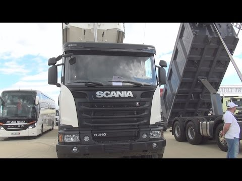 Scania G 410 CB 8x4 EHZ Euro 6 KH-Kipper Tipper Truck (2016) Exterior and Interior in 3D
