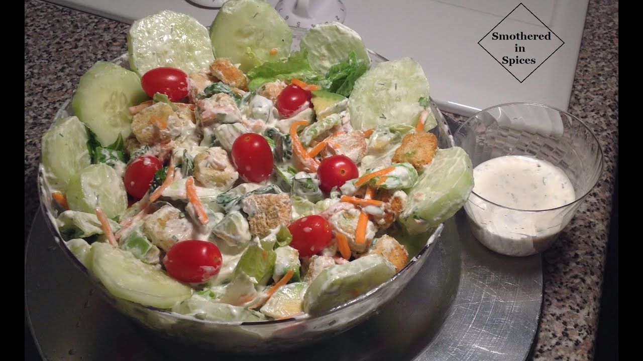 Homemade ranch dressing garden salad recipe smothered - Where can i buy olive garden salad dressing ...
