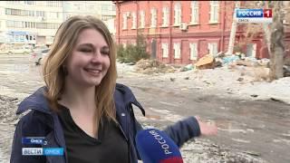 Огромная куча мусора выросла прямо в центре Омска