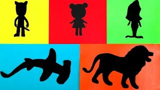 Learn Colors with Animal Toys and Surprise Toys - Learning Video For Kids - Animal Matchup Game
