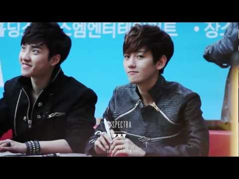 [1080P]120428 EXO-K Incheon fansign Baekhyun fancam [full ver]