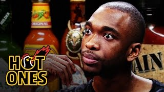 Jay Pharoah Has a Staring Contest While Eating Spicy Wings | Hot Ones