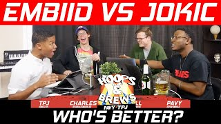 Jokic vs Embiid, Who's better? (feat. @LockedOnClips) | Hoops N Brews