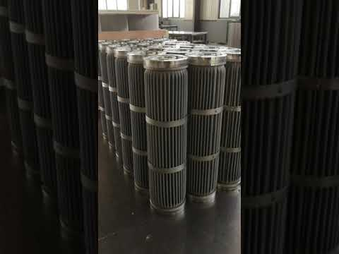 Industrial filter element - pleated mesh filter cartridge