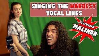 Singing The Hardest Vocal Lines (by Ten Second Songs ft Malinda)