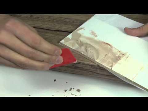 Reparatie van een schade aan de rand aanrechtblad