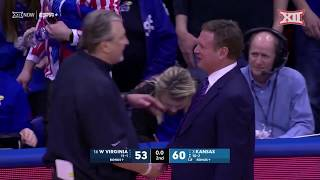 West Virginia at Kansas Men's Basketball Highlights