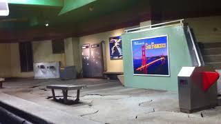 Universal Studios Hollywood Tram Ride Part 5/9 - Train Station Earthquake