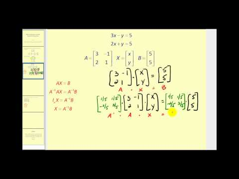 Writing and Solving a Matrix Equation for a Linear System   CK-12 ...