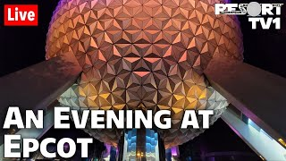 🔴Live: An Evening at Epcot in 1080p - Walt Disney World Live Stream - 8-12-20