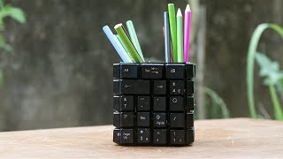 How to make a Pen Holder with Keyboard keys