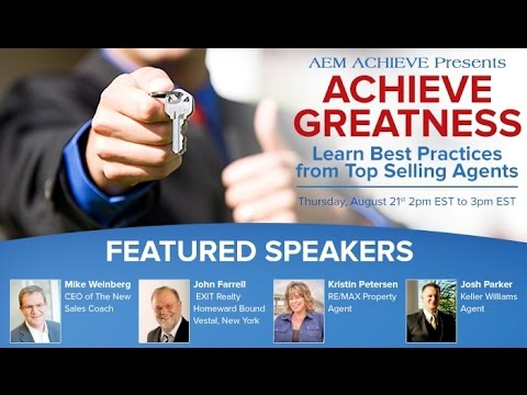 AEM Achieve #3: Learn Best Practices from Top Selling Agents