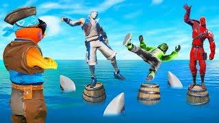 Fortnite SIMON SAYS Do Not FALL Into The SHARK TANK! (Fortnite Creative)
