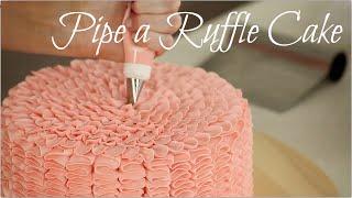 CAKE TREND ~ Buttercream Ruffle Decorating - CAKE STYLE