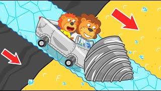 Lion Family   Journey to the Center of the Earth №42. Sand for Baby Orc   Cartoon for Kids