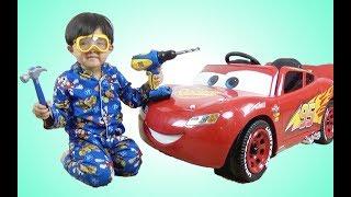 New Disney Cars 3 Lightning McQueen 6V Battery-Powered Ride On Test Drive Park Playtime