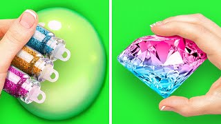 Slime, Glitter, Hot Glue and Resin || Cool Crafts