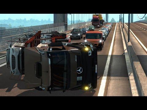 ETS2 Scandinavia - Crashing brand new Mercedes Antos (Euro Truck Simulator 2)