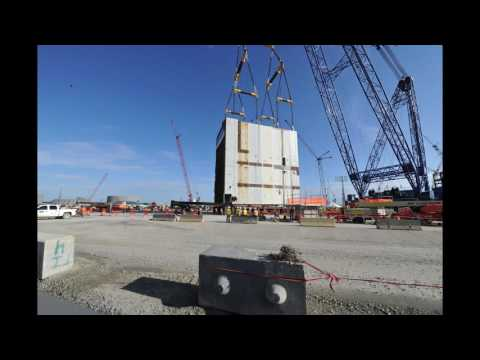 Timelapse video of the placement of the 2 million-pound CA20 placement at the Vogtle nuclear expansion near Waynesboro, Georgia on Saturday, August 20.