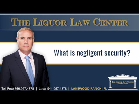 What is negligent security?