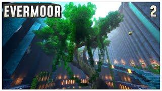 Minecraft Timelapse | Jungle Base Mega Tree | Evermoor SMP #2