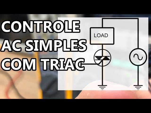 DISPARO DE TRIAC COM SINAL DC SIMPLES
