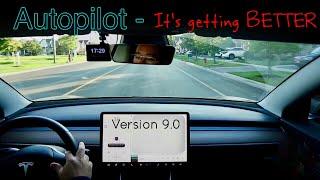 Testing the Model 3 : AutoPilot got A LOT BETTER in v9.0
