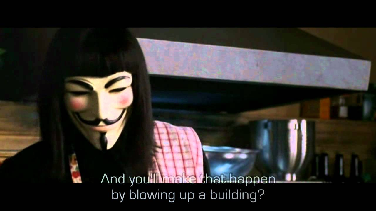 V for vendetta power and control