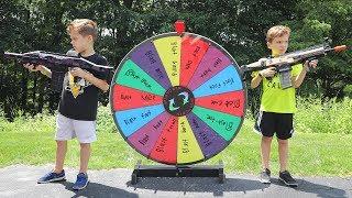 Nerf War :  The Mystery Wheel Showdown (Twin Toys)