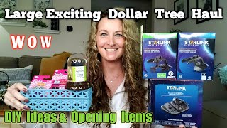 Large Exciting Dollar Tree Haul | All New| Ideas & Opening | Aug 9