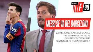 ¡BOMBAZO 💣! #BARCELONA ANUNCIÓ QUE #MESSI NO SEGUIRÁ EN EL CLUB y así reaccionaron en #ESPNF90